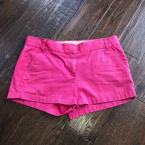 J Crew cotton broken in Chino Short 10 Hot Pink